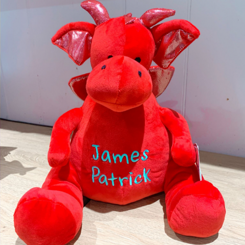 Personalised Red Dragon Teddy Bear